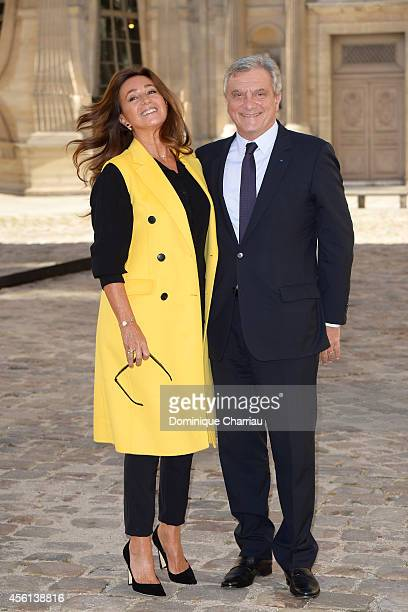 Katia Toledano and Sidney Toledano attend the Christian Dior show as part of the Paris Fashion Week Womenswear Spring/Summer 2015 on September 26...