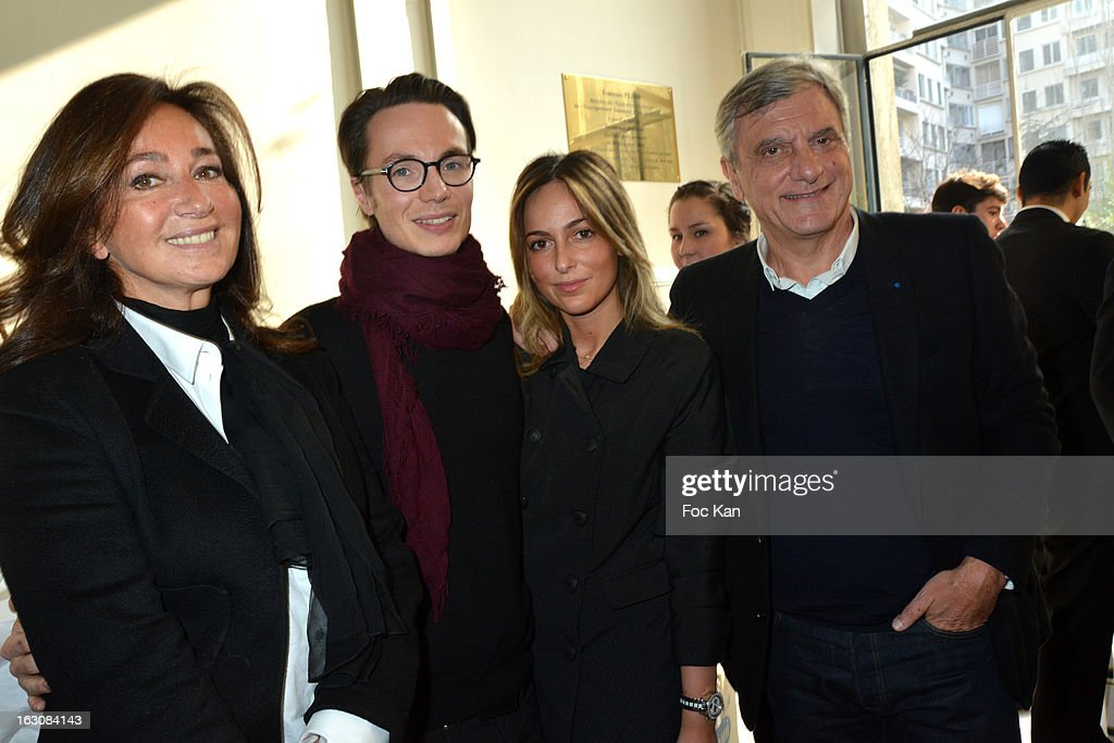 <a gi-track='captionPersonalityLinkClicked' href=/galleries/search?phrase=Katia+Toledano&family=editorial&specificpeople=758669 ng-click='$event.stopPropagation()'>Katia Toledano</a>, Maxime Simoens, Julia Toledano and Sidney Toledano attend the Maxime Simoens - Front Row - PFW F/W 2013 at the Foyer des Lyceennes Dr Blanche on March 3rd, 2013 in Paris, France.