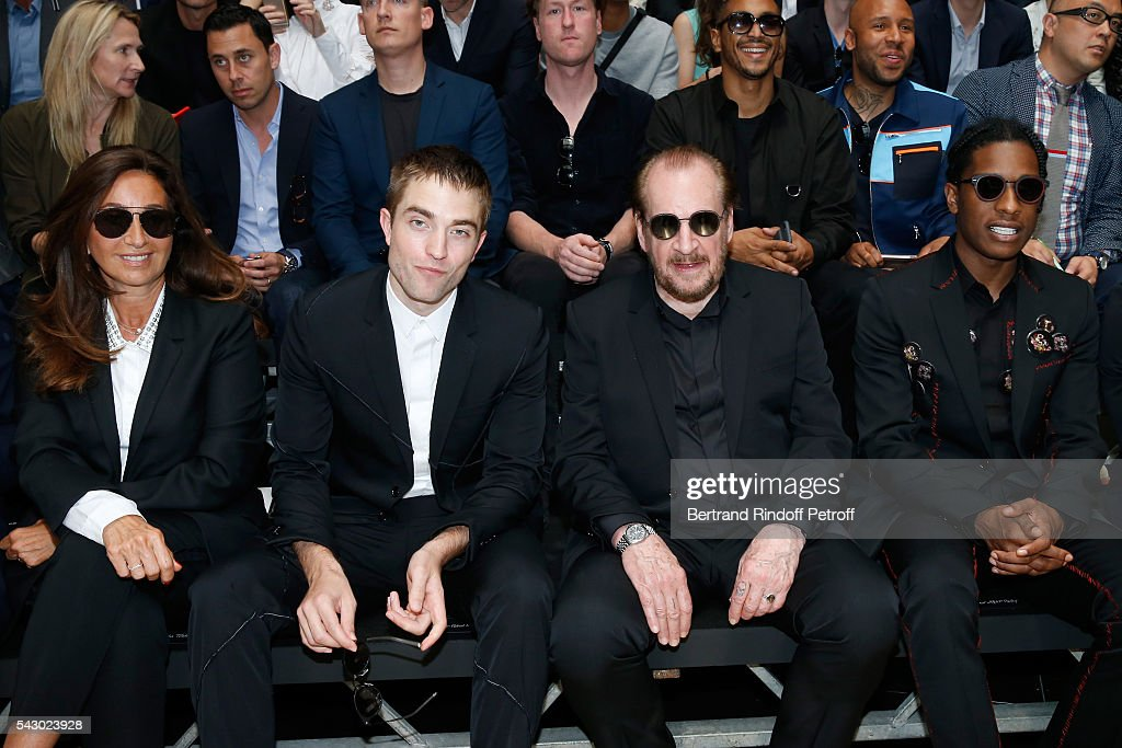 Katia Toledano, Robert Pattinson, Photographer Larry Clark and A$AP Rocky attend the Dior Homme Menswear Spring/Summer 2017 show as part of Paris Fashion Week on June 25, 2016 in Paris, France.