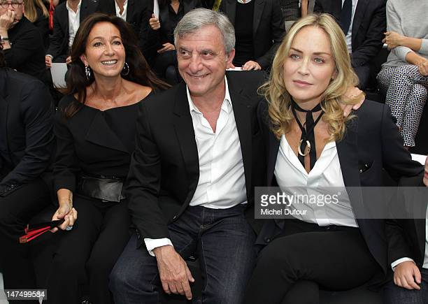 Katia Toledano Sidney Toledano and Sharon Stone attend the Dior Homme Menswear Spring / Summer 2013 show as part of Paris Fashion Week on June 30...