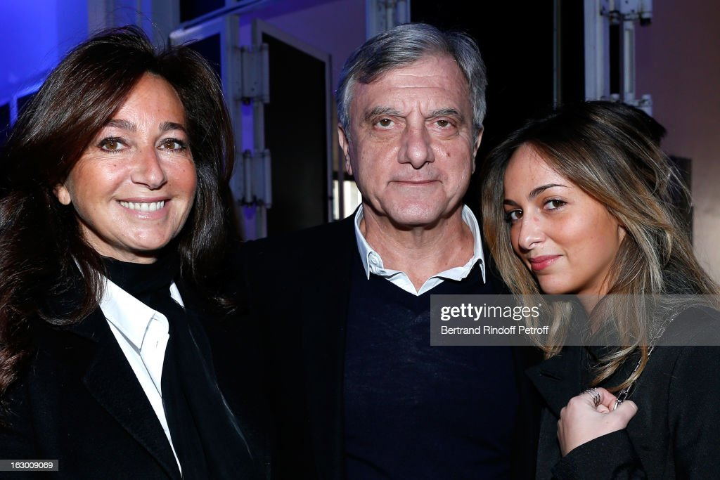 Katia Toledano, Sidney Toledano, Christian Dior Couture President and CEO, and Julia Toledano attend the Maxime Simoens Fall/Winter 2013 Ready-to-Wear show as part of Paris Fashion Week on March 3, 2013 in Paris, France.