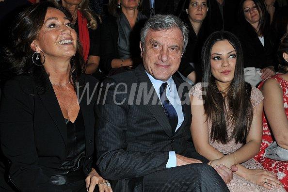 Katia Toledano Sidney Toledano Dior CEO and Mila Kunis attend the