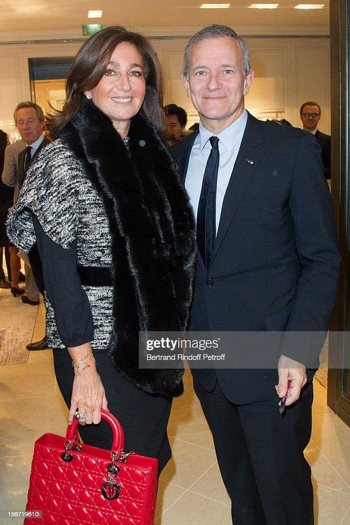 Katia Toledano, the wife of Sidney Toledano, CEO of Christian Dior, and Francis Huster attend the signing of Huster's book 'And Dior Created Woman' at Dior Boutique on November 19, 2012 in Paris, France.