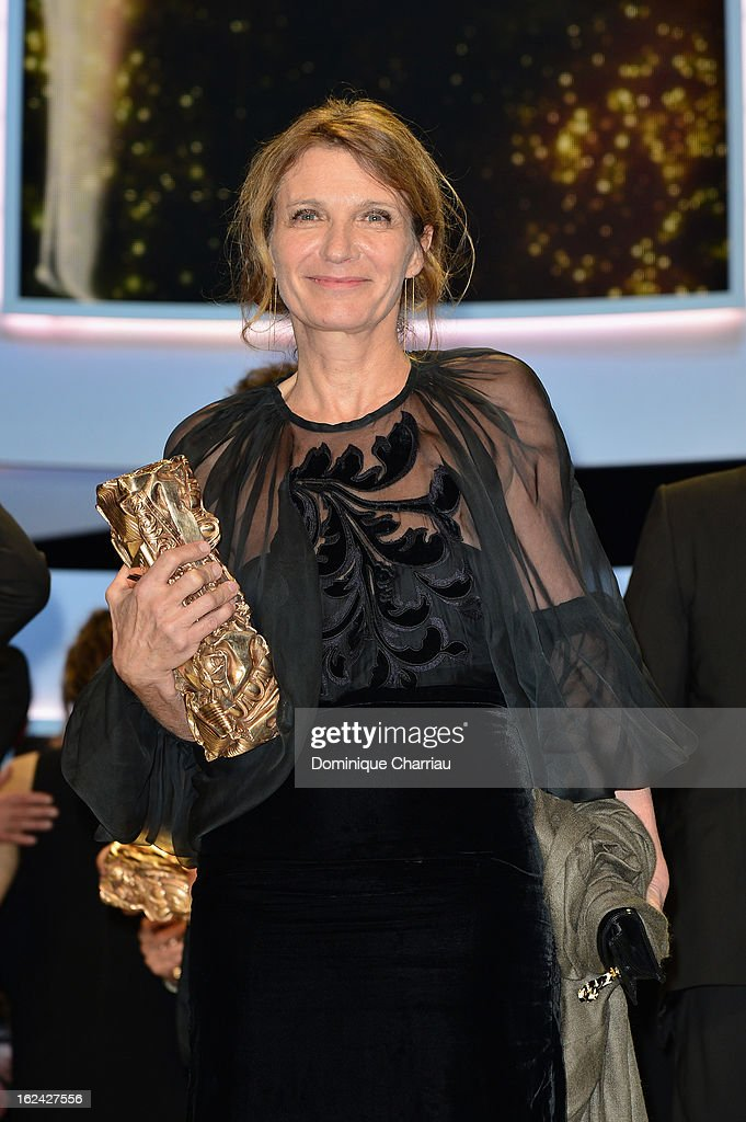 Katia Wyszkop receives the Best Set Design Cesar for 'Les adieux a la reine' during the 37th Cesar Film Awards Cesar Film Awards 2013 at Theatre du Chatelet on February 22, 2013 in Paris, France.
