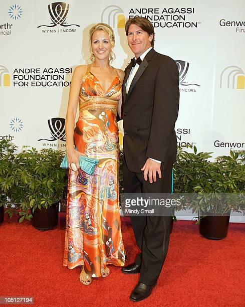 Katie and Darren Anderton attend the Andre Agassi Grand Slam Benefit Concert at The Wynn Hotel And Casino Resort on October 9 2010 in Las Vegas Nevada