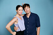 Katie Aselton and Mark Duplass attend the 'Mistress America' screening during the Sundance NEXT FEST at The Theatre at Ace Hotel on August 7 2015 in...