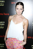 Katie Aselton arrives at the Los Angeles premiere of 'Are You Here' held at ArcLight Hollywood on August 18 2014 in Hollywood California