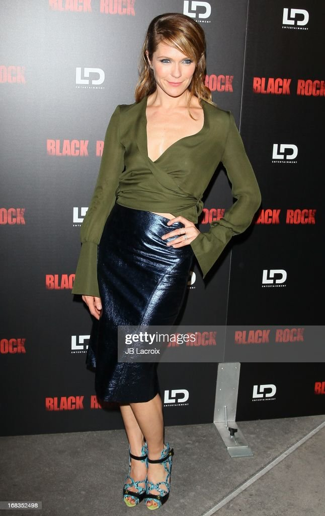 Katie Aselton attends the 'Black Rock' Premiere held at ArcLight Hollywood on May 8 2013 in Hollywood California