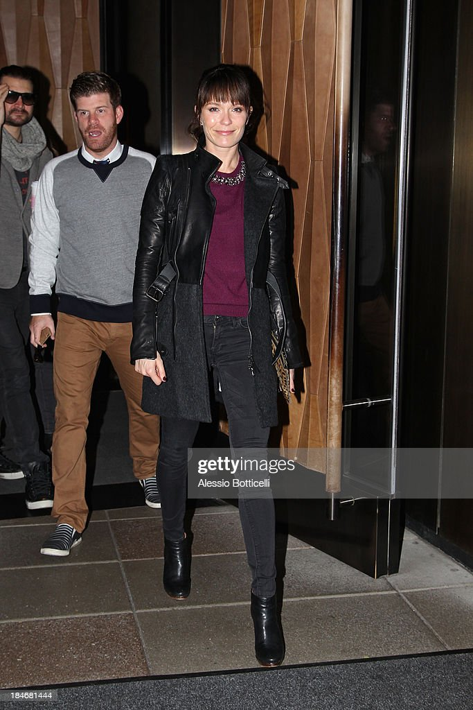 Katie Aselton seen leaving Trump SoHo Hotel on October 15, 2013 in New York City.