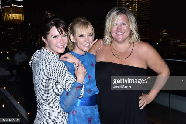 Katie Aselton Toni Collette and Bridget Everett attend Momentum Pictures with The Cinema Society SVEDKA host the after party for 'Fun Mom Dinner' at...