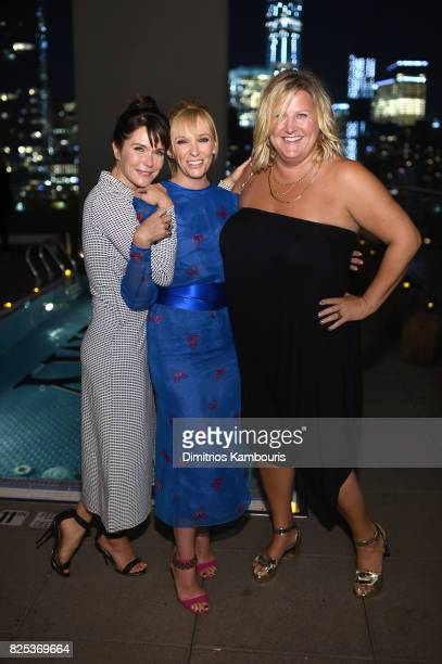 Katie Aselton Toni Collette and Bridget Everett attend the screening Of 'Fun Mom Dinner' at Landmark Sunshine Cinema on August 1 2017 in New York City