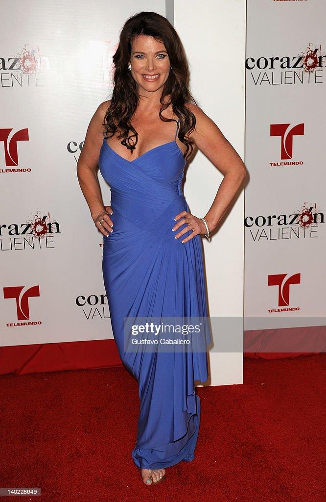 Katie Barberi attends Telemundo's Corazon Valiente Red Carpet Premiere at Fontainebleau Miami Beach on February 29, 2012 in Miami Beach, Florida.