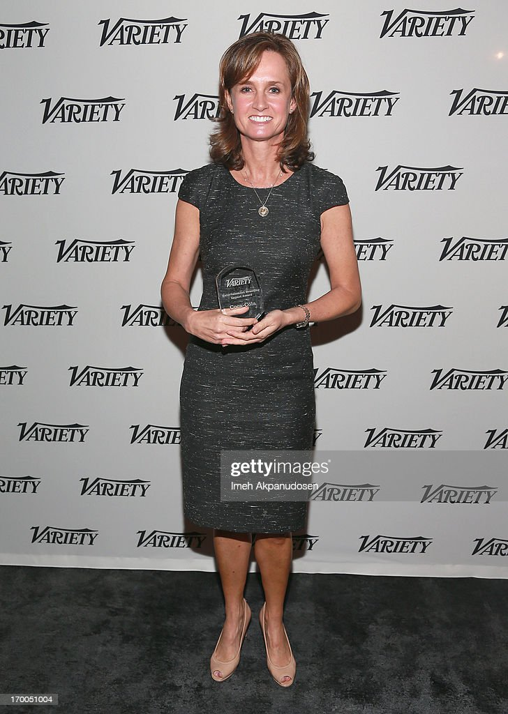 Katie Bayne, President North America Brands Coca-Cola North American Group accepts the Entertainment Branding Impact Award on behalf of the Coca-Cola Company during Variety Presents