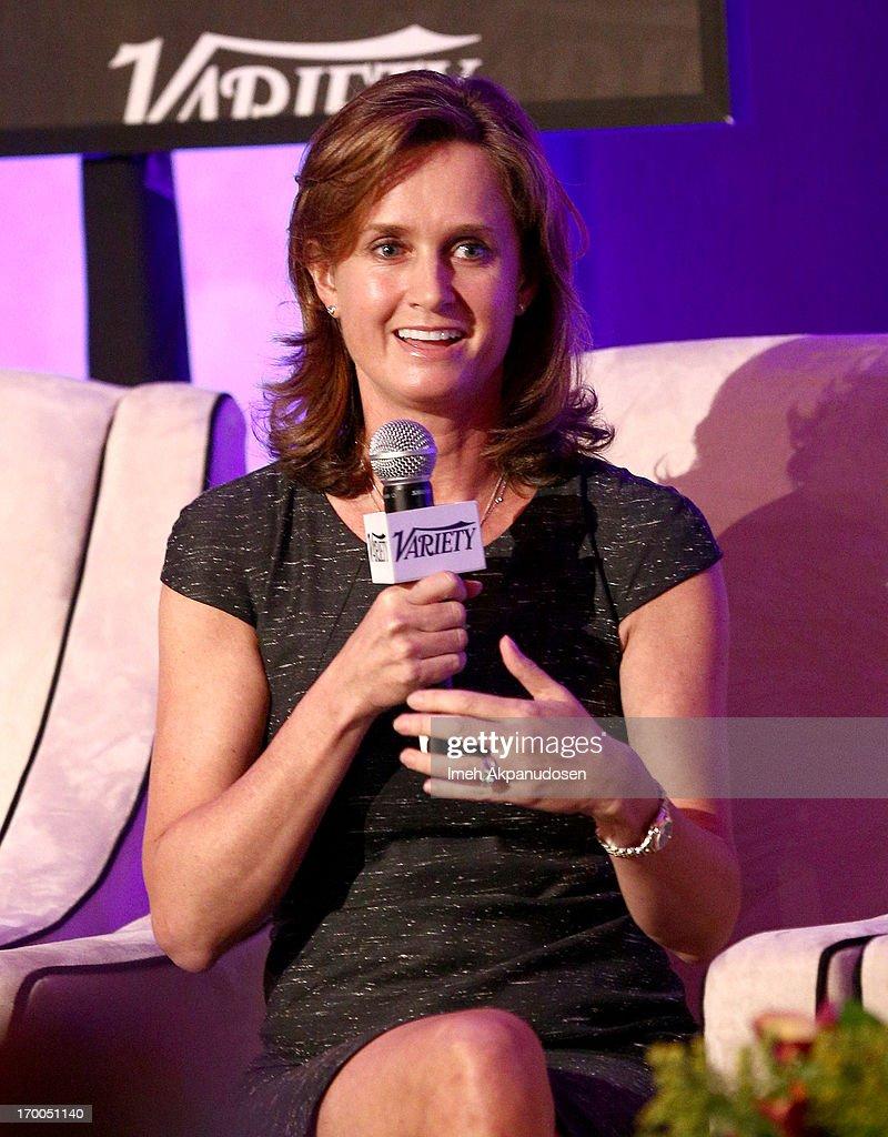 Katie Bayne, President North America Brands Coca-Cola North American Group speaks onstage during a 'Keynote Conversation' at Variety Presents