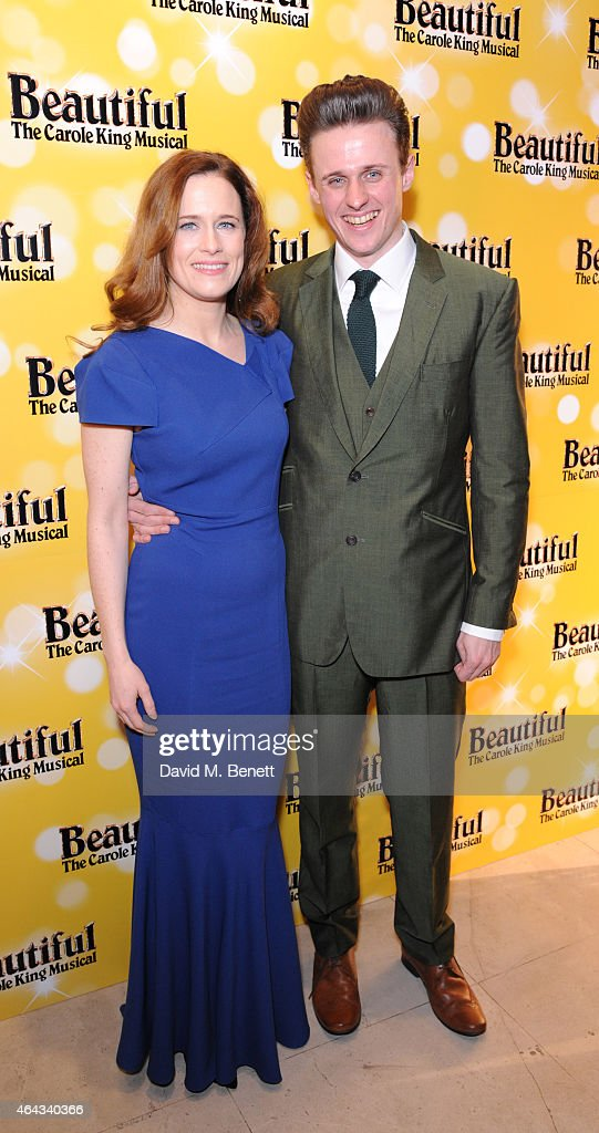 Katie Brayben and Alan Morrissey attend an after party following the press night performance of 'Beautiful: The Carole King Musical', playing at the Aldwych Theatre, at the Somerset House on February 24, 2015 in London, England.