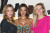 Katie Cassidy Alessandra Ambrosio and Jessica Hart attend the SCHUTZ AW14 Campaign Celebration at Schutz on September 4 2014 in New York City