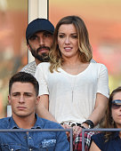 Katie Cassidy and Jason Garrison attend day 14 of the 2014 US Open at USTA Billie Jean King National Tennis Center on September 7 2014 in New York...