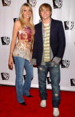 Katie Cassidy and Jesse McCartney during The WB Television Network's 2005 All Star Party Arrivals at Warner Bros Studio in Burbank California United...