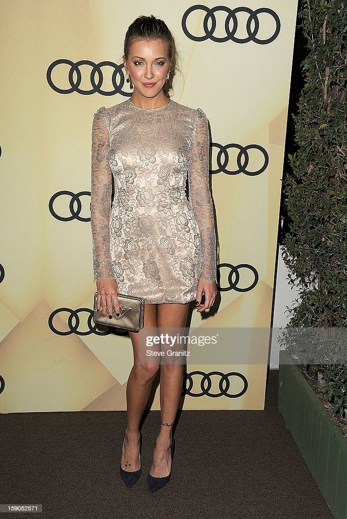 Katie Cassidy arrives at the Audi Golden Globe 2013 Kick Off Cocktail Party at Cecconi's Restaurant on January 6, 2013 in Los Angeles, California.