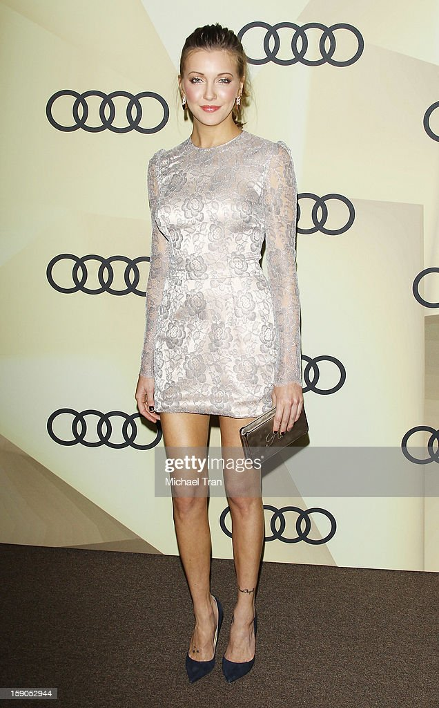 Katie Cassidy arrives at the Audi Golden Globe 2013 kick off cocktail party held at Cecconi's Restaurant on January 6, 2013 in Los Angeles, California.