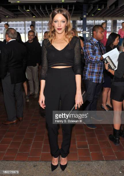 Katie Cassidy attends the Catherine Malandrino presentation during Spring 2014 MercedesBenz Fashion Week at Pier 92 on September 10 2013 in New York...