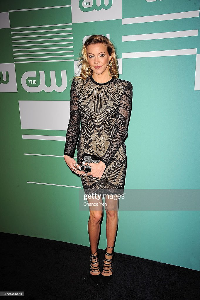 <a gi-track='captionPersonalityLinkClicked' href=/galleries/search?phrase=Katie+Cassidy&family=editorial&specificpeople=569891 ng-click='$event.stopPropagation()'>Katie Cassidy</a> attends The CW Network's New York 2015 Upfront Presentation at The London Hotel on May 14, 2015 in New York City.