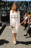 Katie Cassidy attends the Houghton fashion show during MADE Fashion Week Spring 2014 at The Standard Hotel High Line Room on September 6 2013 in New...