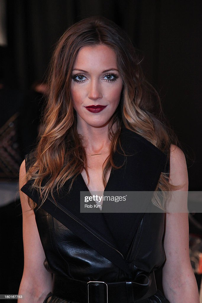 <a gi-track='captionPersonalityLinkClicked' href=/galleries/search?phrase=Katie+Cassidy&family=editorial&specificpeople=569891 ng-click='$event.stopPropagation()'>Katie Cassidy</a> backstage at the Kaufmanfranco show during Spring 2014 Mercedes-Benz Fashion Week at The Theatre at Lincoln Center on September 9, 2013 in New York City.