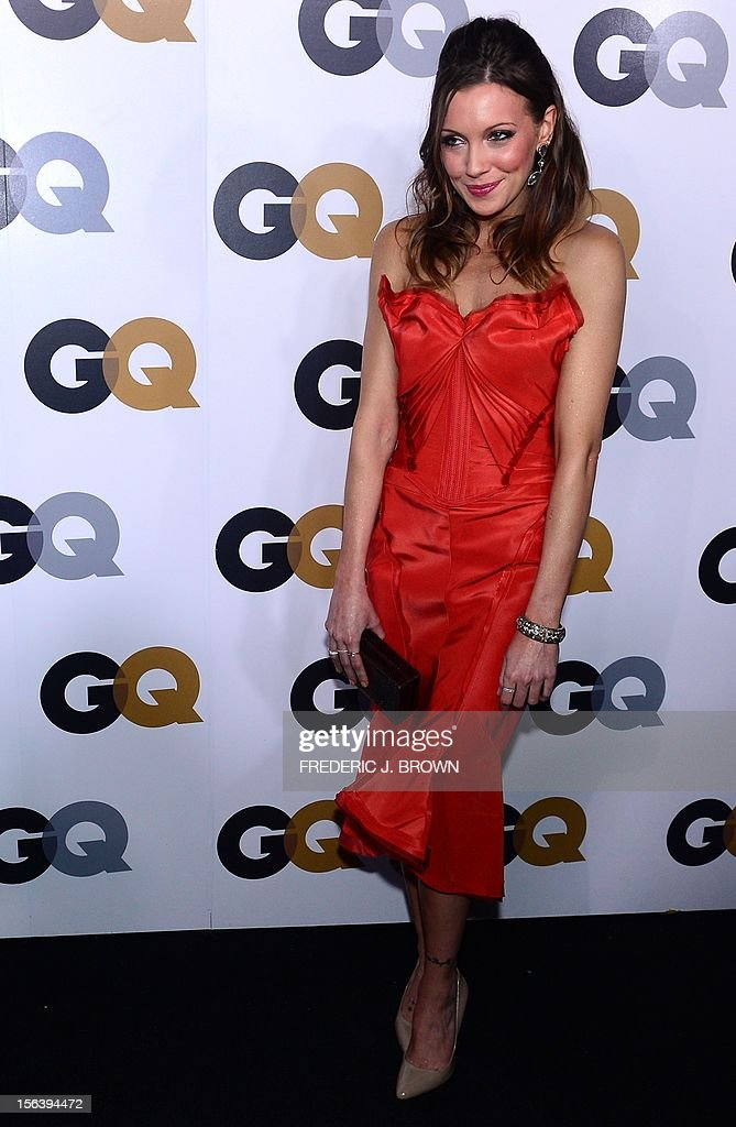 Katie Cassidy poses on arrival for the GQ Men of the Year Party at Chateau Marmont on Sunset Blvd., in Hollywood, California, on November 13, 2012. AFP PHOTO / Frederic J. BROWN
