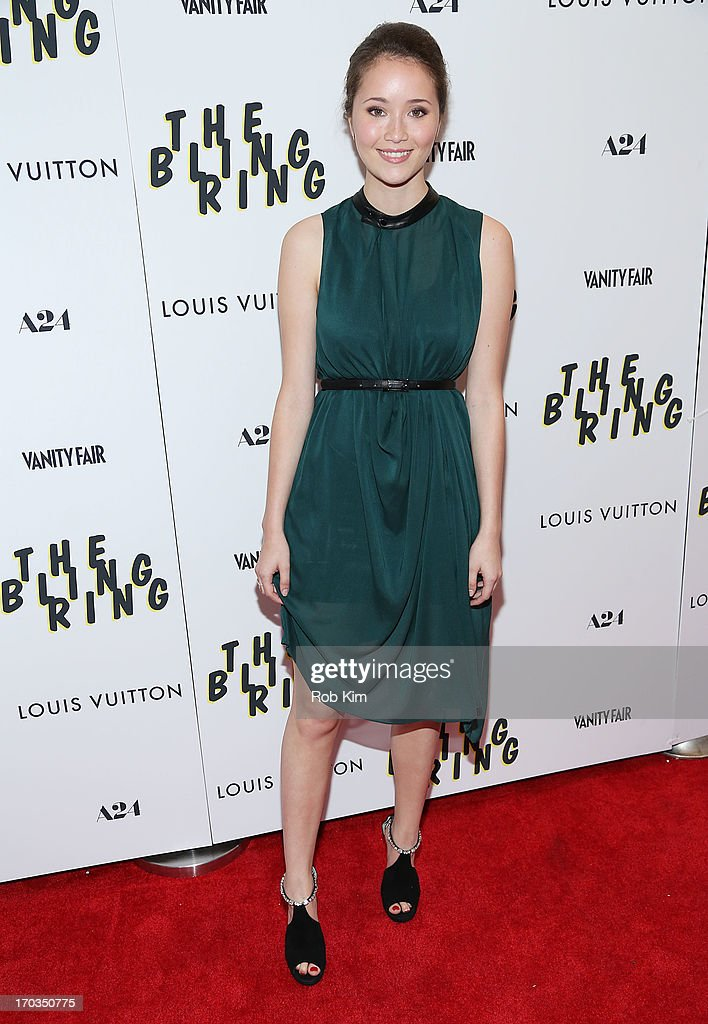 <a gi-track='captionPersonalityLinkClicked' href=/galleries/search?phrase=Katie+Chang&family=editorial&specificpeople=9505247 ng-click='$event.stopPropagation()'>Katie Chang</a> attends the New York screening of A24Õs THE BLING RING presented by Louis Vuitton and Vanity Fair at Paris Theatre on June 11, 2013 in New York City.