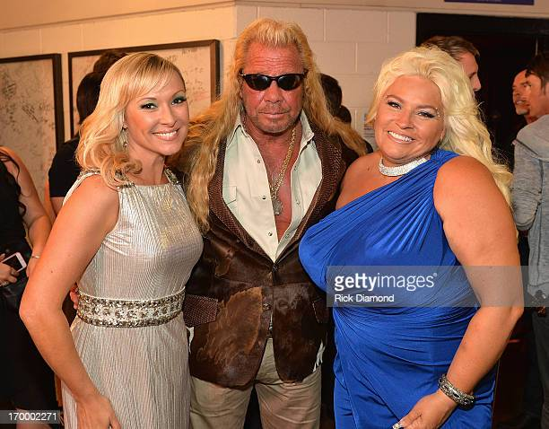 Katie Cook and TV personalities Duane Dog Lee Chapman and Beth Chapman attend the 2013 CMT Music awards at the Bridgestone Arena on June 5 2013 in...