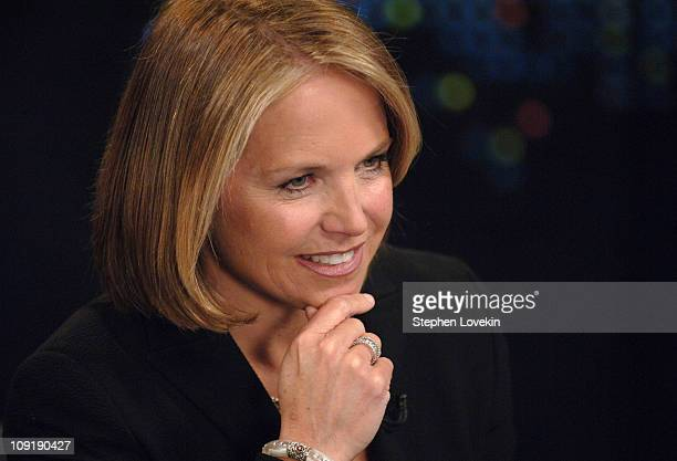 Katie Couric 13420_030JPG during 'Larry King Live' with Guest Katie Couric May 1 2007 at CNN Studio in New York City New York United States