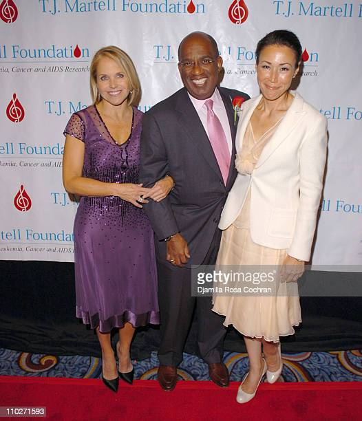 Katie Couric Al Roker and Ann Curry during TJ Martell Foundation October 6 2005 at Marriott Marquis in New York City New York United States