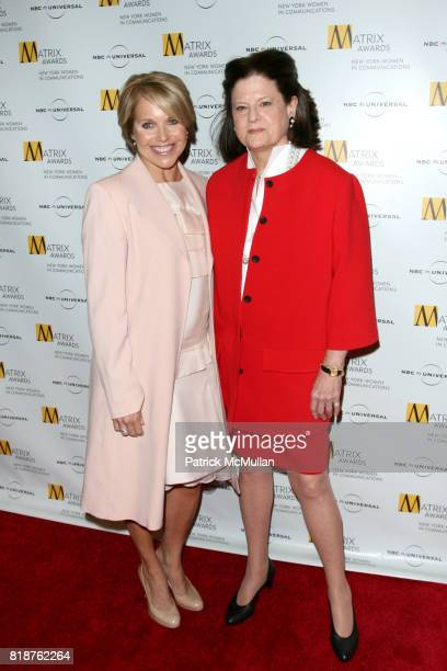 Katie Couric and Anne Keating attend New York WOMEN IN COMMUNICATIONS Presents The 2010 MATRIX AWARDS at Waldorf Astoria on April 19 2010 in New York...