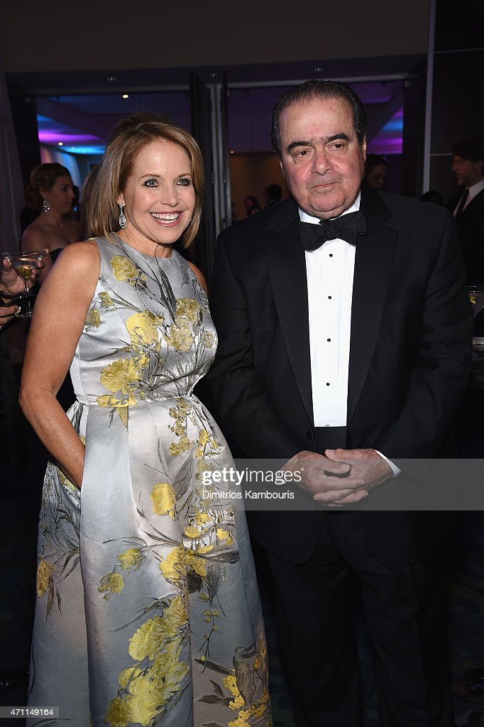 <a gi-track='captionPersonalityLinkClicked' href=/galleries/search?phrase=Katie+Couric&family=editorial&specificpeople=202633 ng-click='$event.stopPropagation()'>Katie Couric</a> and Associate Justice of the Supreme Court of the United States <a gi-track='captionPersonalityLinkClicked' href=/galleries/search?phrase=Antonin+Scalia&family=editorial&specificpeople=215620 ng-click='$event.stopPropagation()'>Antonin Scalia</a> attend the Yahoo News/ABC News White House Correspondents' dinner reception pre-party at the Washington Hilton on Saturday, April 25, 2015 in Washington, DC.