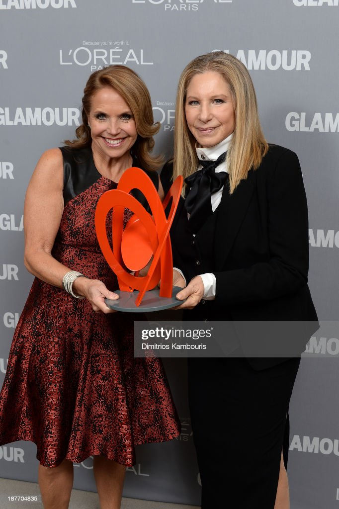 <a gi-track='captionPersonalityLinkClicked' href=/galleries/search?phrase=Katie+Couric&family=editorial&specificpeople=202633 ng-click='$event.stopPropagation()'>Katie Couric</a> and <a gi-track='captionPersonalityLinkClicked' href=/galleries/search?phrase=Barbra+Streisand&family=editorial&specificpeople=200745 ng-click='$event.stopPropagation()'>Barbra Streisand</a> attend Glamour's 23rd annual Women of the Year awards on November 11, 2013 in New York City.