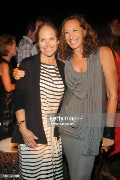 Katie Couric and Donna Karan attend THE CINEMA SOCIETY with VANITY FAIR HUGO BOSS host the after party for 'DINNER FOR SCHMUCKS' at Private Residence...