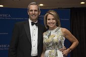 Katie Couric and husband John Molner arrive at White House Correspondents' Association annual dinner in Washington DC on April 25 2015 AFP PHOTO /...