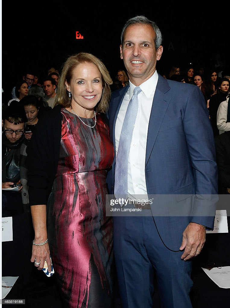 Katie Couric and husband John Molner attend Carmen Marc Valvo during MercedesBenz Fashion Week Fall 2015> at The Theatre at Lincoln Center on...