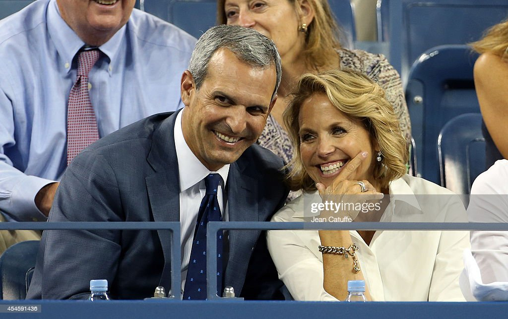 Katie Couric and husband John Molner attend Day 10 of the 2014 US Open at USTA Billie Jean King National Tennis Center on September 3 2014 in the...