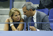 Katie Couric and husband John Molner attend the 15th Annual USTA Opening Night Gala on Day 1 of the 2015 US Open at USTA Billie Jean King National...
