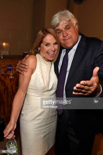 Katie Couric and Jay Leno attend the National Night Of Laughter And Song event hosted by David Lynch Foundation at the John F Kennedy Center for the...