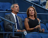 Katie Couric and John Molner are sighted during day 1 of the 2015 US Open at USTA Billie Jean King National Tennis Center on August 31 2015 in New...