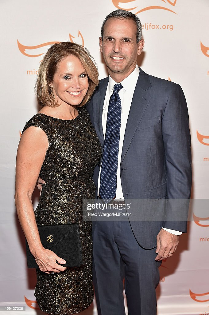 Katie Couric and John Molner attend 2014 A Funny Thing Happened On The Way To Cure Parkinson's at The Waldorf=Astoria on November 22 2014 in New York...