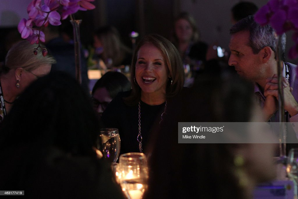 Katie Couric and John Molner attend An Artist at the Table: Dinner Program during the 2014 Sundance Film Festival at Stein Eriksen Lodge on January 16, 2014 in Park City, Utah.