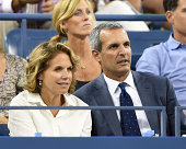 Katie Couric and John Molner attend day 10 of the 2014 US Open at USTA Billie Jean King National Tennis Center on September 3 2014 in New York City