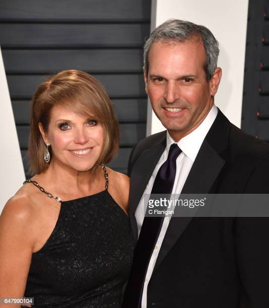 Katie Couric and John Molner attend the 2017 Vanity Fair Oscar Party hosted by Graydon Carter at the Wallis Annenberg Center for the Performing Arts...