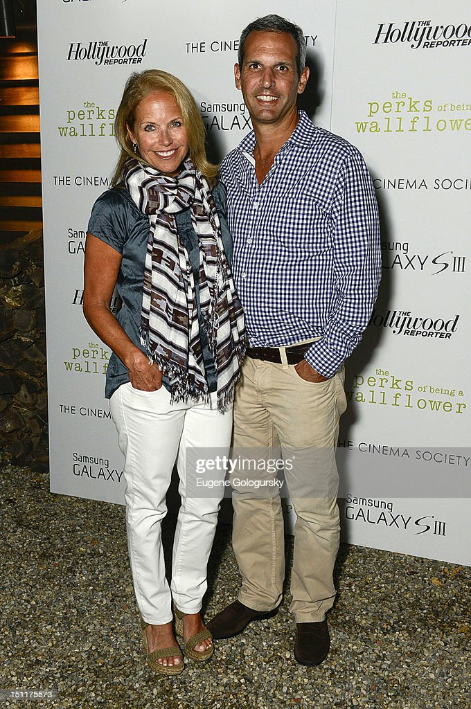 Katie Couric and John Molner attend The Cinema Society The Hollywood Reporter And Samsung Galaxy S III Special Screening Of 'The Perks Of Being A...