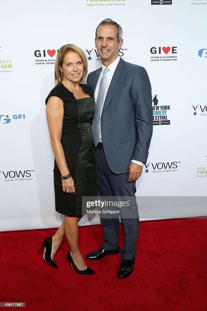 Katie Couric and John Molner attend The New York Comedy Festival and The Bob Woodruff Foundation present the 8th Annual Stand Up For Heroes Event at...