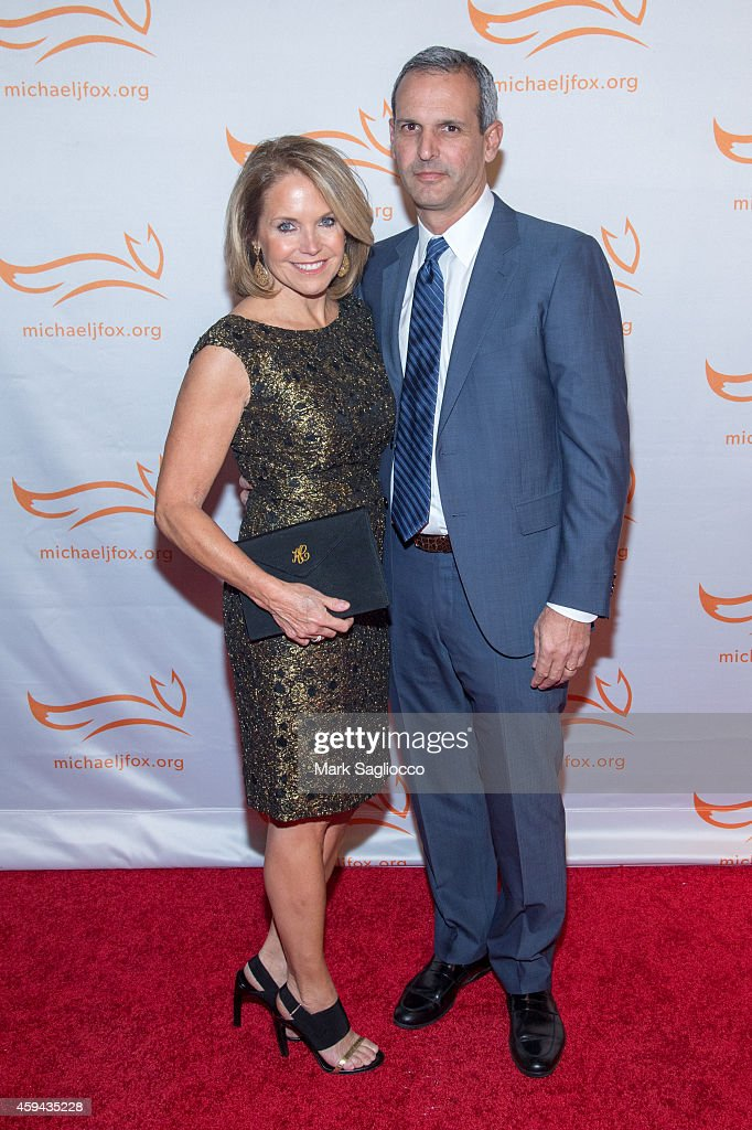 Katie Couric and John Molner attends 2014 A Funny Thing Happened On The Way To Cure Parkinson's at The Waldorf Astoria on November 22 2014 in New...